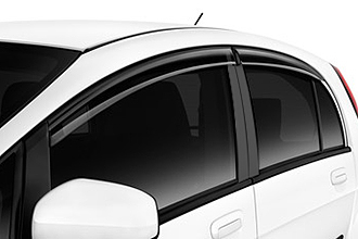 2017 Mitsubishi iMiEV side windshield deflector parts on diamond white car