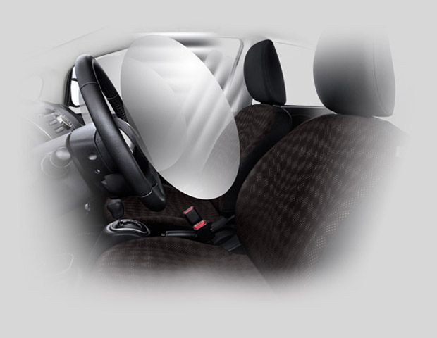 Mitsubishi i-MiEV 6 airbag system which helped achieve a four star NHTSA safety rating