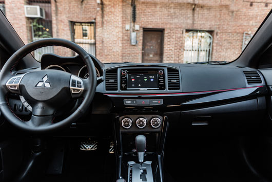 2017 Mitsubishi Lancer LE interior dash styling