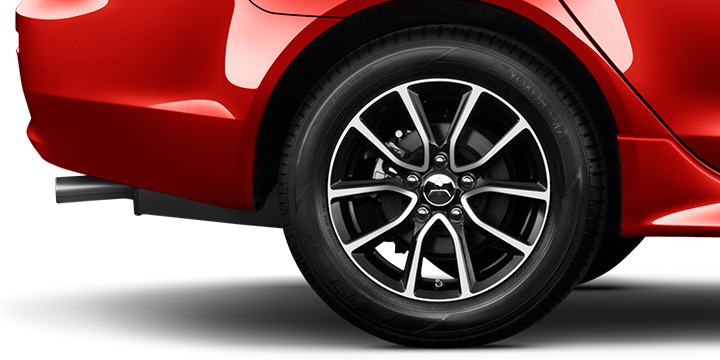 "We've upgraded our wheels across every trim, including the 16"" two-tone alloy wheels now standard on ES and ES AWC."