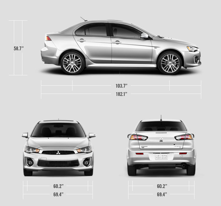 2017 Mitsubishi Lancer measurements