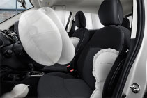 7 airbags for 5 seats in fuel efficient 2017 Mitsubishi Mirage