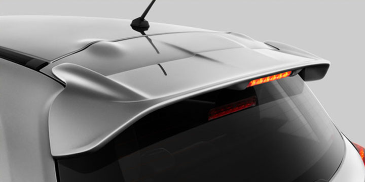 Mirage sets a new standard for compact design, with the aerodynamic and stylish rear spoiler standard on every trim.