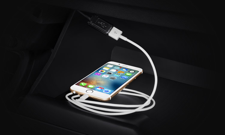 iphone connected to 2017 Mitsubishi Mirage bluetooth handsfree system