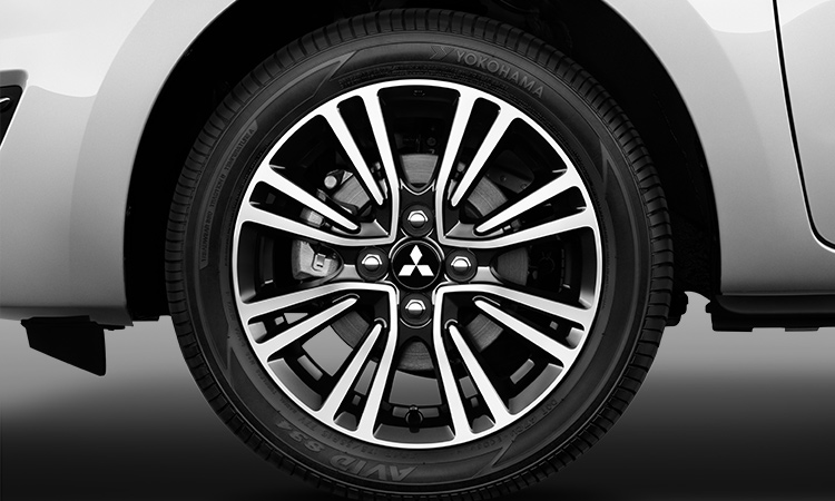 two tone 15 inch alloy wheels for 2017 Mitsubishi Mirage hatchback
