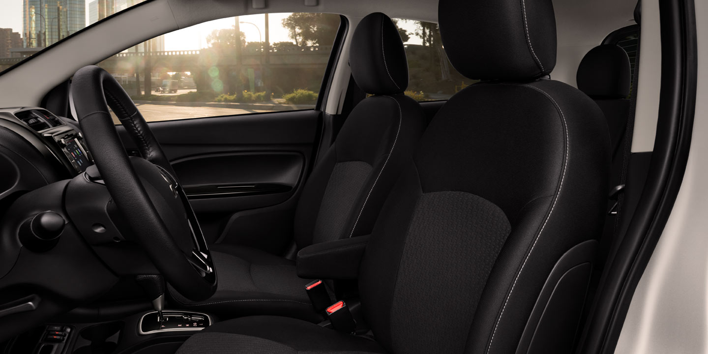 2018 Mitsubishi Mirage interior gray stitching