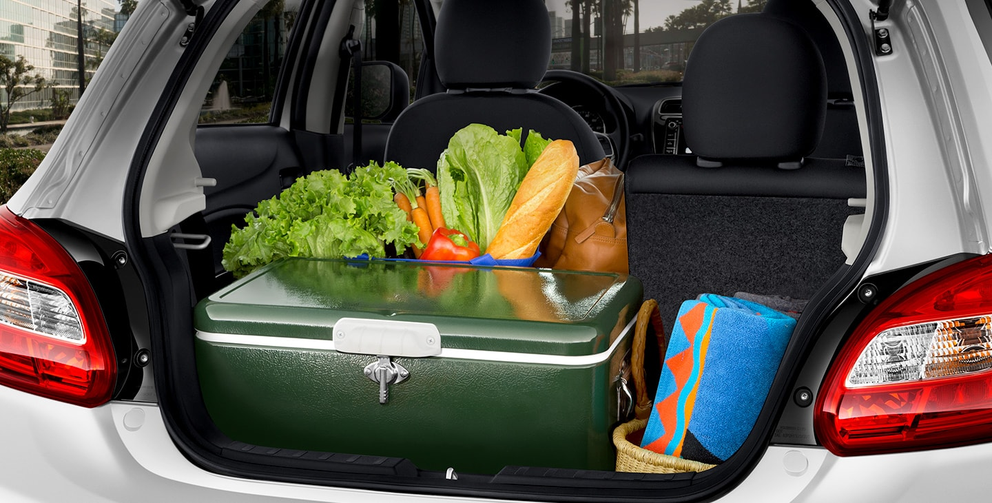 2018 Mirage cargo capacity full