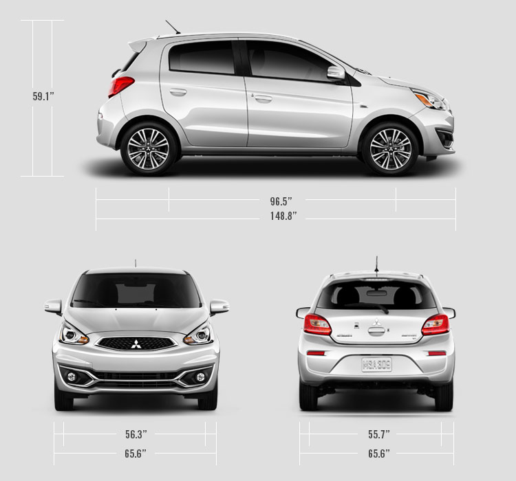 2018 Mitsubishi Mirage measurements