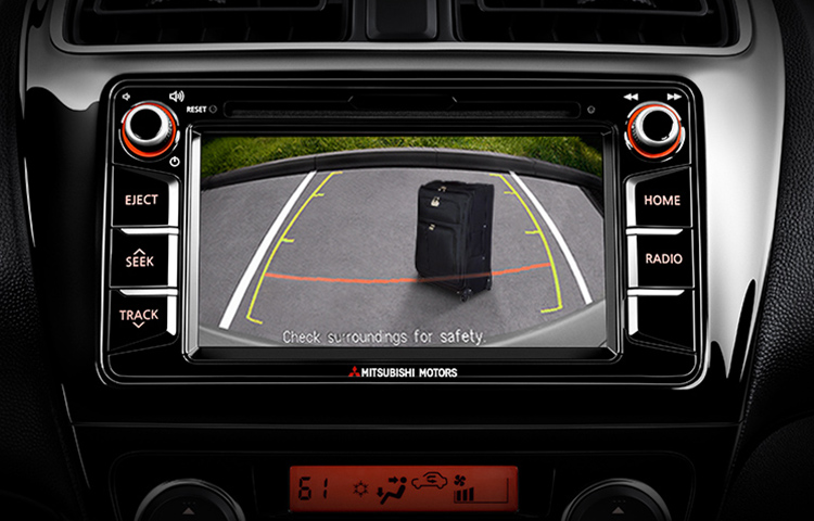 2019 Mitsubishi Mirage rearview camera safety