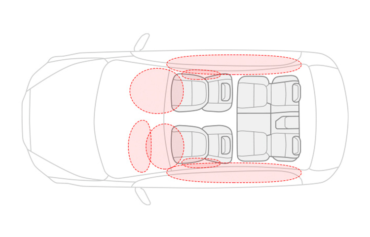 2019 Mitsubishi Mirage airbags safety