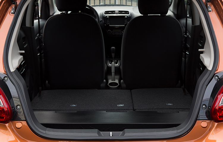 With up to 47 cubic feet of cargo space, the Mitsubishi Mirage is the small car that loves to live large.
