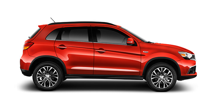 The 2016 Outlander Sport offers sleek aerodynamic styling in six different colors, like the eye-catching Rally Red.