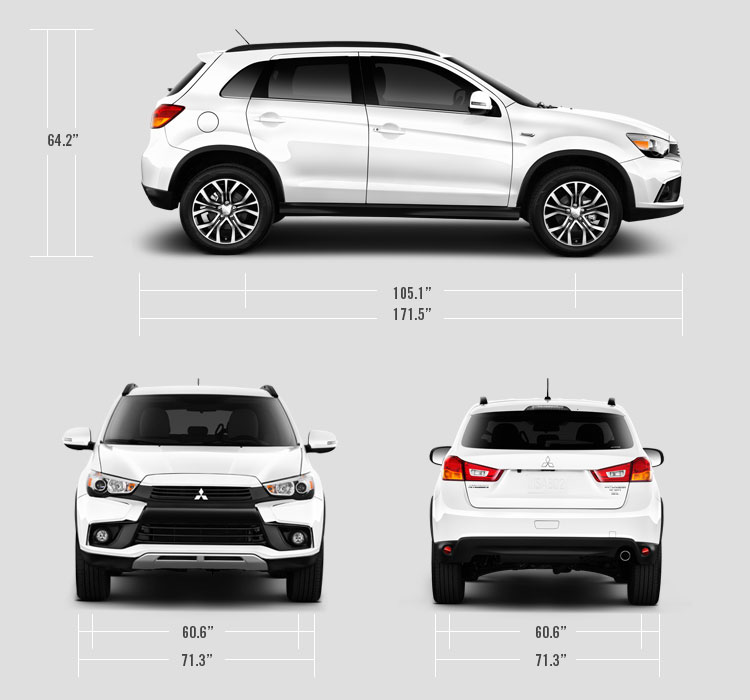2016 Mitsubishi Outlander Sport measurements