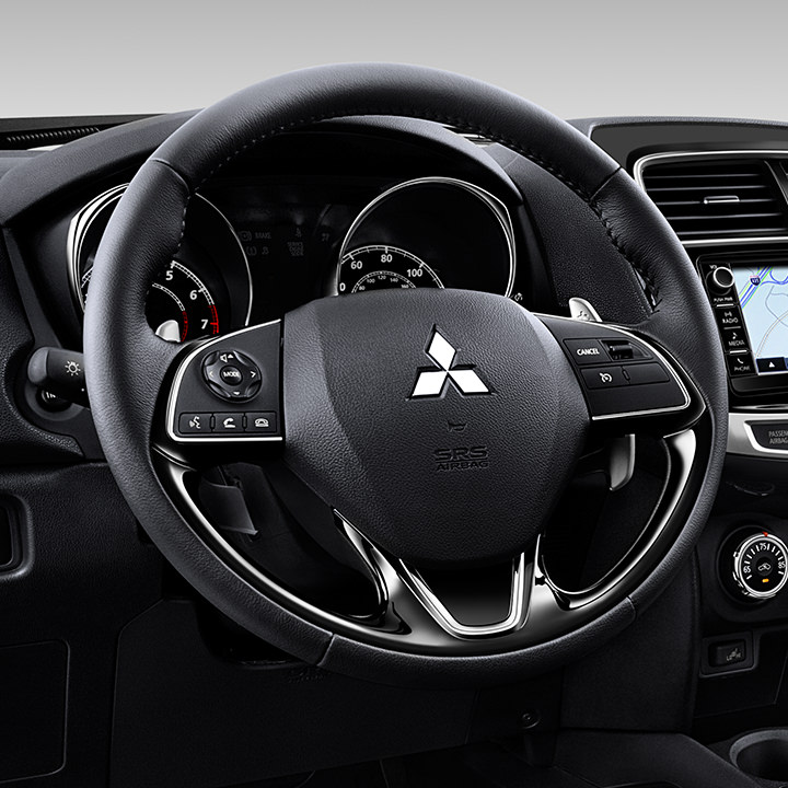Leather Wrapped Steering Wheel 2017 Mitsubishi Outlander Sport