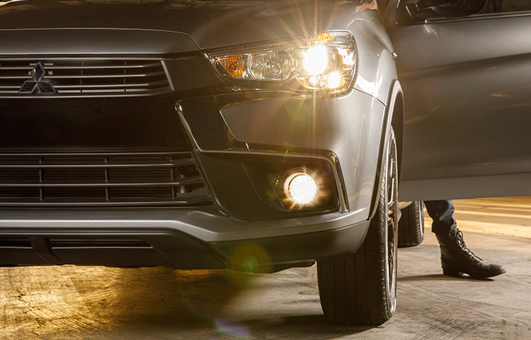 Headlights on limited edition 2017 Mitsubishi Outlander Sport