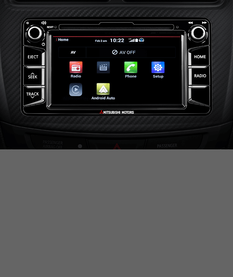 Android Auto in 2017 Mitsubishi Outlander Sport center console
