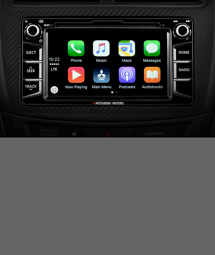 Apple Play in Mitsubishi Outlander Sport LE center console