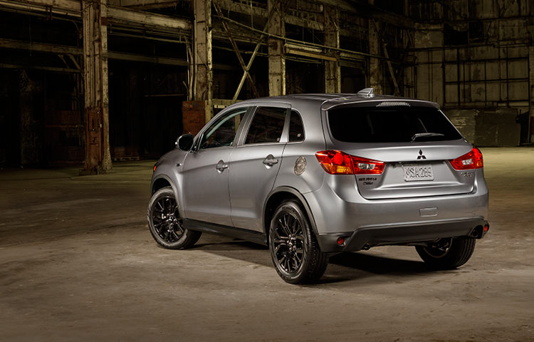 rear exterior of gray 2017 Mitsubishi Outlander Sport Limited Edition