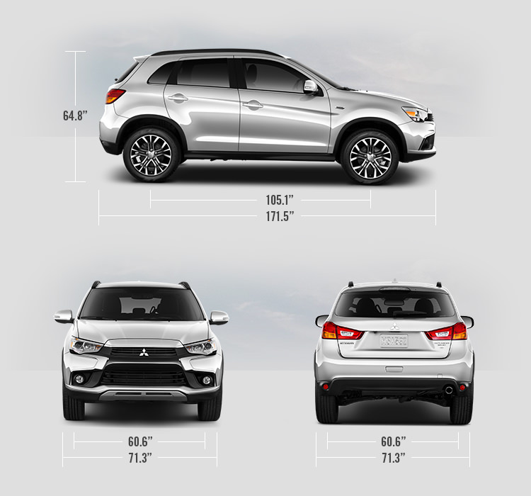 2017 Mitsubishi Outlander Sport measurements