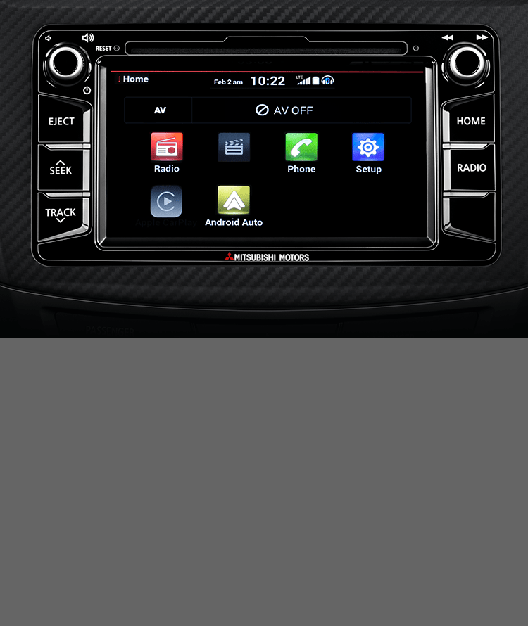 Access apps conveniently with Android Auto<sup>TM</sup><ANDROID002> through the compatible touchscreen.
