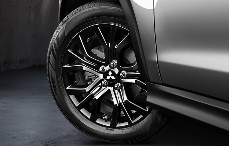 "Alluring 18"" black wheels are both eye catching and ready to take on any road."