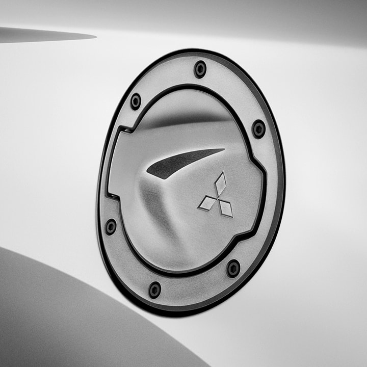 The premium dark alloy fuel door is one of many stylish accents on the Limited Edition.