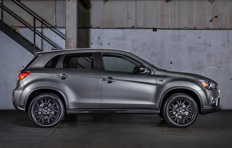 The Outlander Sport LE grabs attention with its bold lines and black accents.