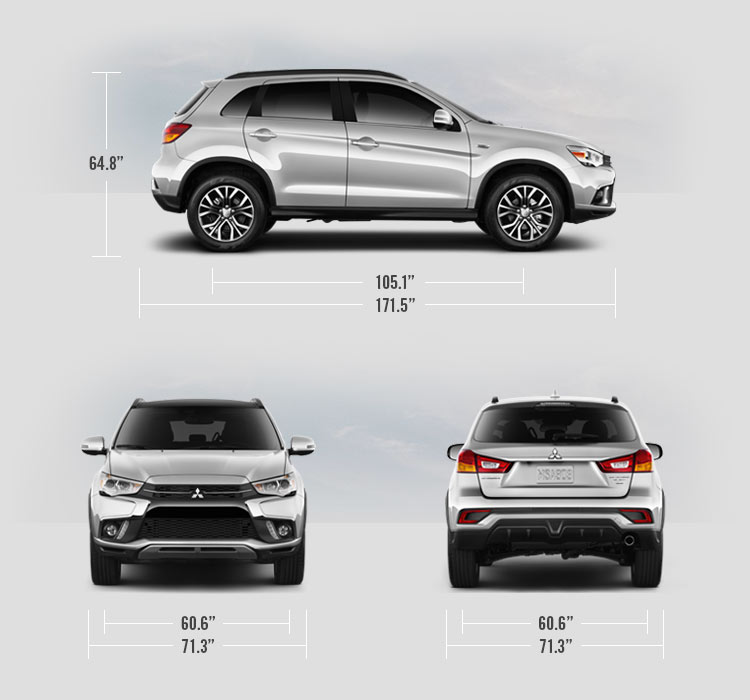 2018 Mitsubishi Outlander Sport measurements