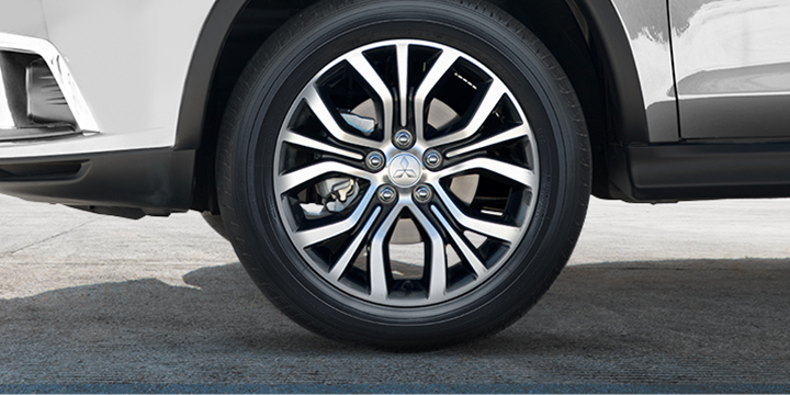 "Every detail of 2019 Outlander Sport crossover is intentional, down to the 18"" two tone alloy wheels."