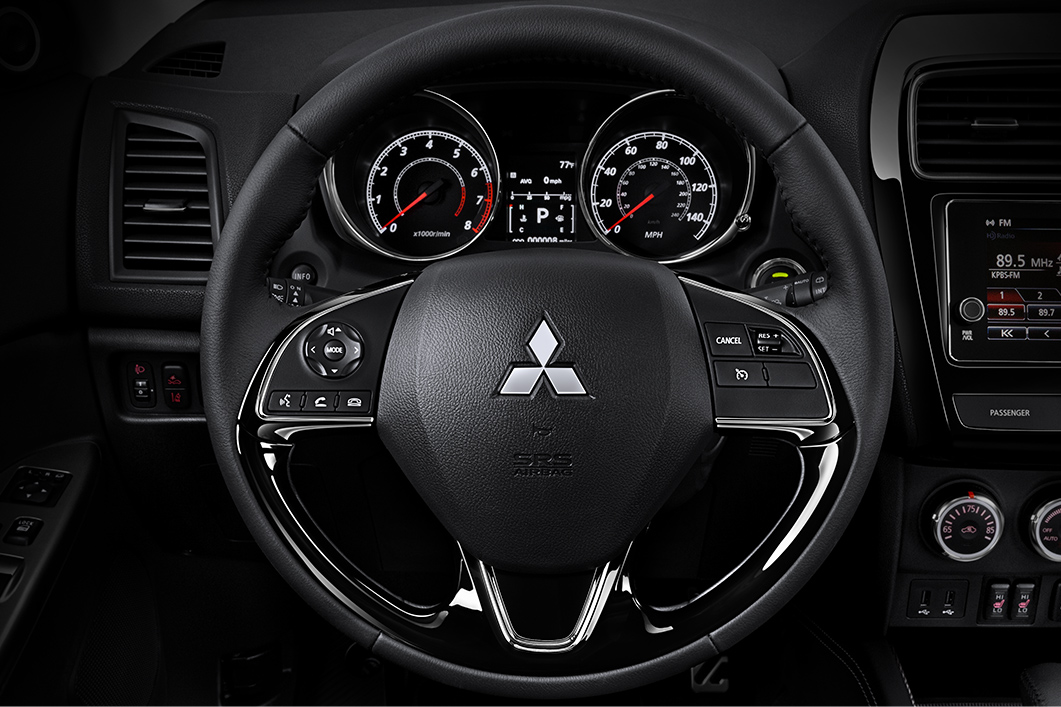The 2019 Outlander Sport crossover allows you to venture freely while initiating hands free calling with steering wheel mounted controls.