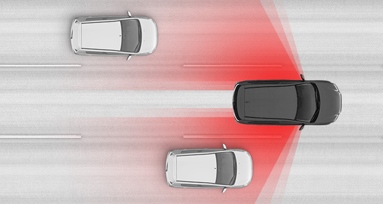Together, Blind Spot Warning and Lane Change Assist <VLP014> help you safely change lanes by alerting you when a vehicle is in or approaching your blind spot.