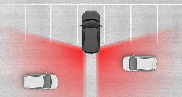 Rear Cross Traffic Alert<VLP014> helps you safely back out of a parking space or driveway by alerting you if another vehicle is about to cross your path.