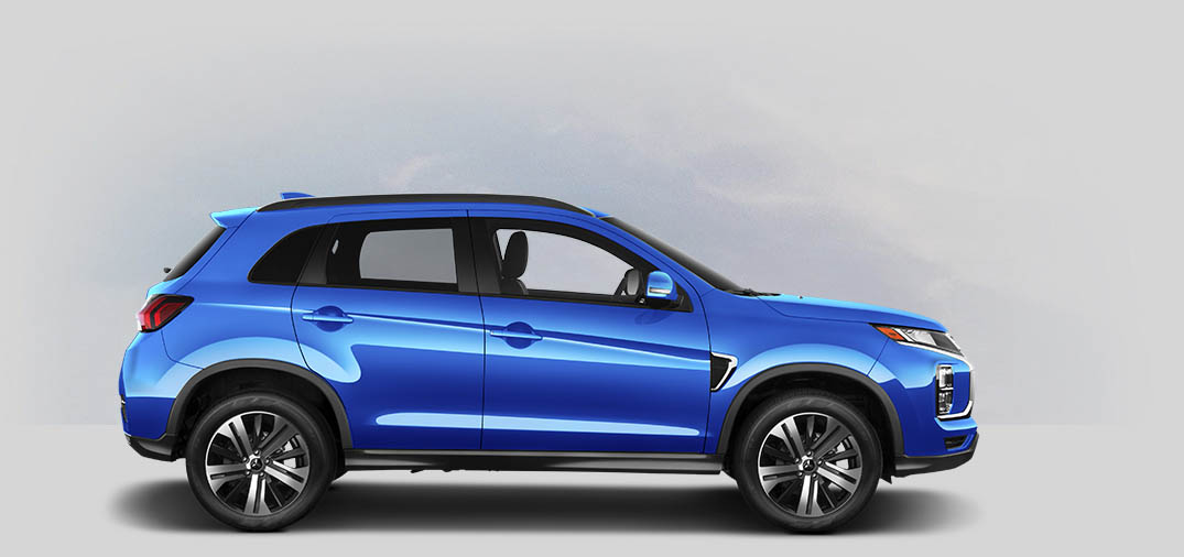 A 2021 Mitsubishi Outlander Sport 2.4 GT AWC with octane blue metallic color.