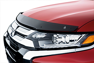 hood protector on 2016 Mitsubishi Outlander rally red Crossover SUV