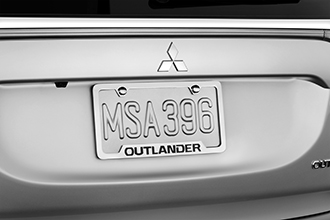 2016 Mitsubishi Outlander license plate frame accessory