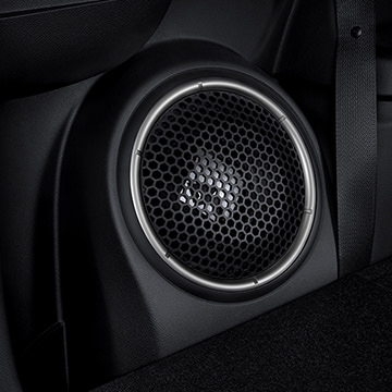 Rockford fosgate 710 watt audio system in 2016 MItsubishi Outlander CUV interior