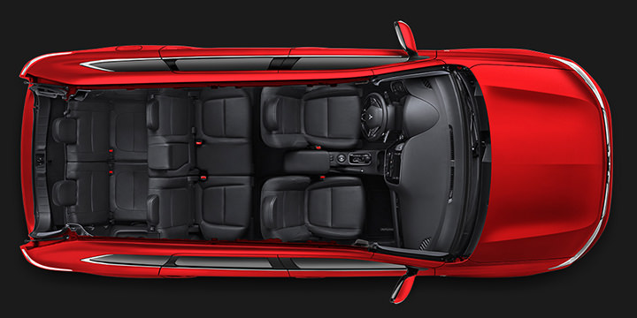 3rd row 7 passenger seating in 2016 Mitsubishi Outlander Crossover SUV
