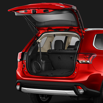 2016 Mitsubishi Outlander open trunk and cargo room