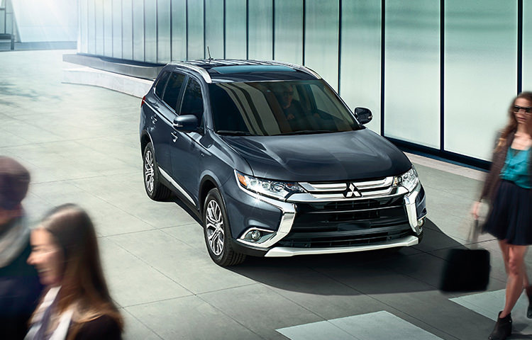 2016 Mitsubishi Outlander Crossover SUV exterior in Mercury Gray
