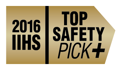 2016 IIHS top saftey pick badge for 2016 Mitsubishi Outlander CUV