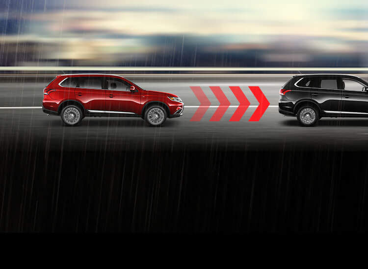 Forward collision mitigation chart for 2016 Mitsubishi Outlander top safety pick