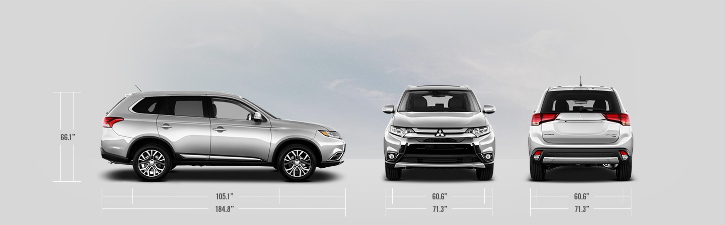 2016 Mitsubishi Outlander measurements