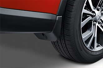 rear mud guards 2018 Mitsubishi Outlander rally red