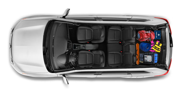 Cargo room in 2018 Mitsubishi Outlander
