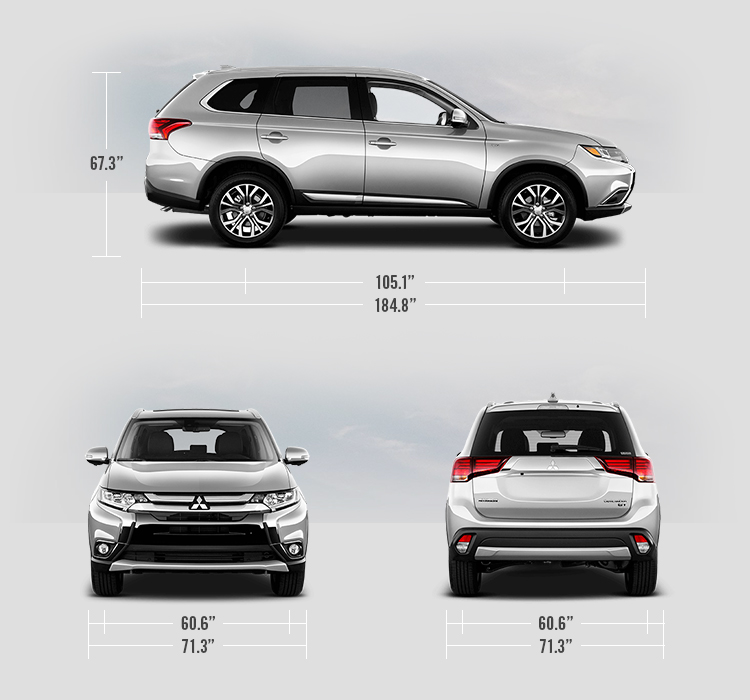2018 Mitsubishi Outlander measurements