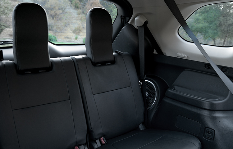 See the spacious and stylish interior of the new Mitsubishi Outlander crossover.