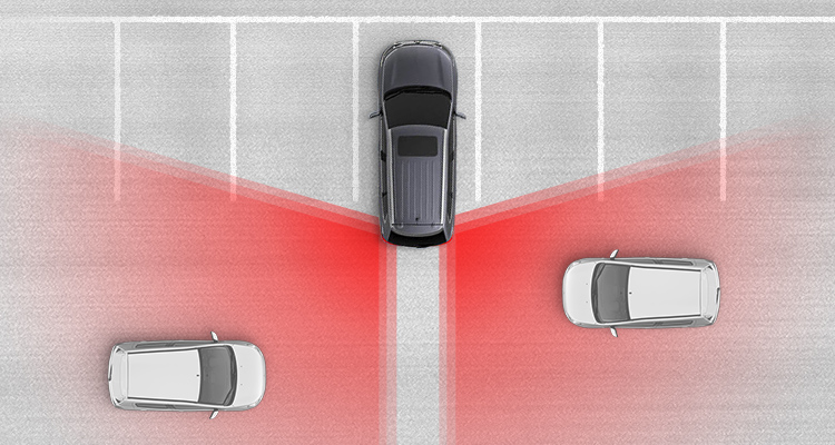 Rear Cross Traffic Alert helps you safely back out of a parking space or driveway by alerting you if another vehicle is about to cross your path.