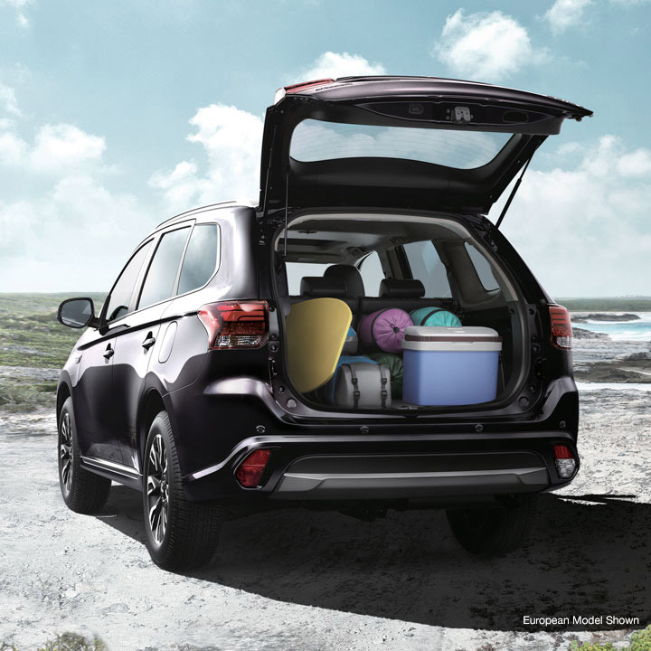 Do more with Outlander PHEV, the first plug-in hybrid offering Super All-Wheel-Control and ample cargo capacity.