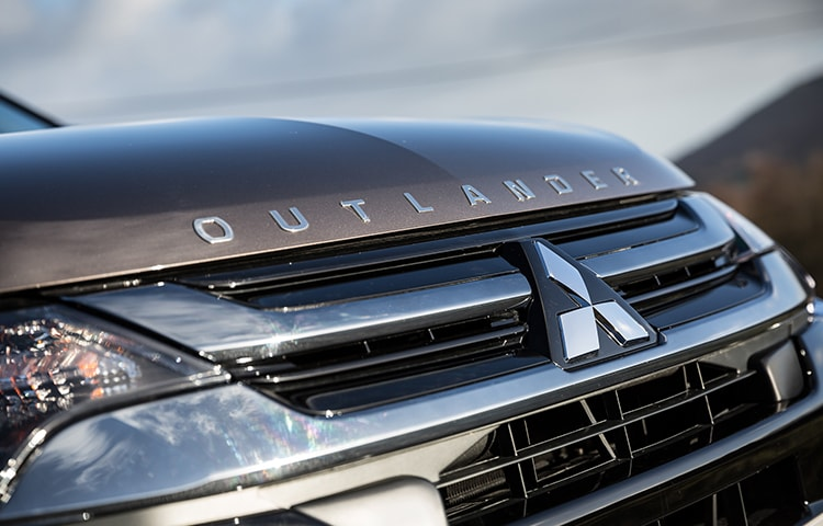 The Outlander PHEV has a unique front grille for a stylish touch.