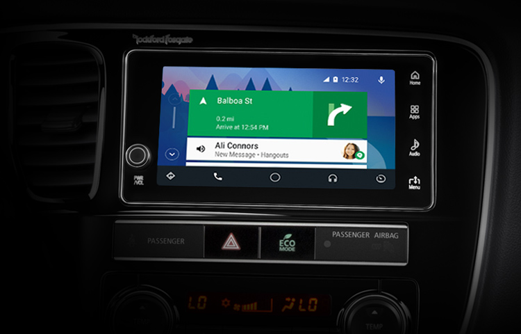 2019 Mitsubishi Outlander PHEV Features Technology Touchscreen AndroidAuto Home